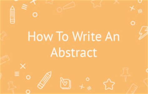 Writing an Abstract Guides